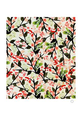 Watercolor Nature Pattern