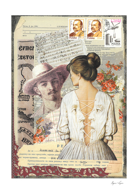 Collage Woman's Back