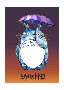 Totoro Polygonal Artwork tribute to Studio Ghibli