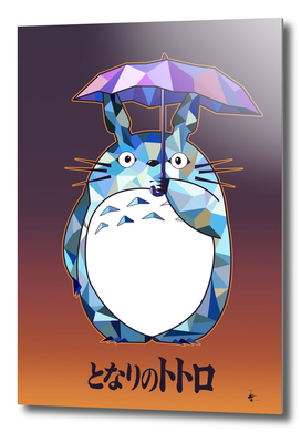 Totoro Polygonal Artwork tribute to Studio Ghibli