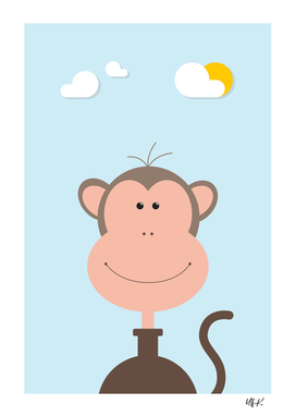 Monkey • Colorful Illustration