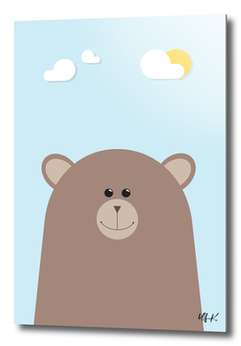 Brown Bear • Colorful Illustration