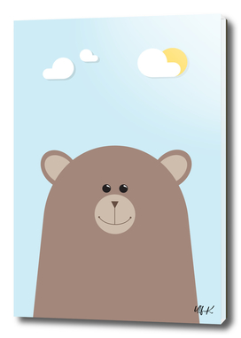 Brown Bear • Colorful Illustration