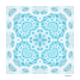 Blue Square Mandala