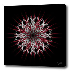 Mandala silver and red