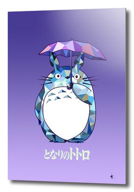Totoro Purple Artwork tribute to Studio Ghibli