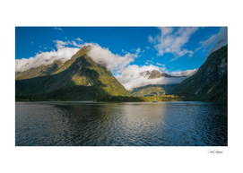 Spectacular Mountain Range at Milford Sound