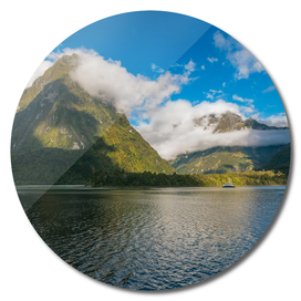 Spectacular Mountain Range at Milford Sound