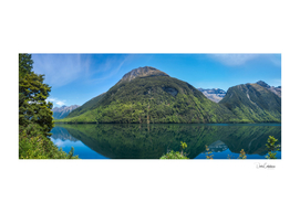 Lake Gunn Panorama with Reflections in Water