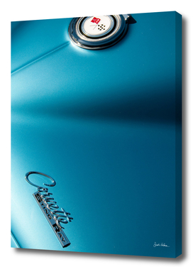 Blue Corvette Sting Ray Details