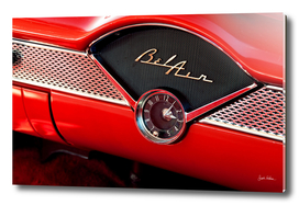 Classic Red Bel Air Car Interior Details