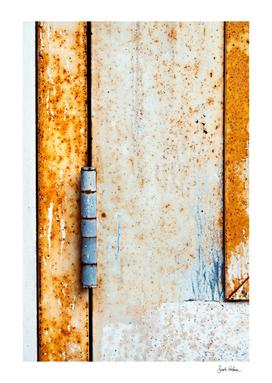 Rusty Door Hinge Abstract