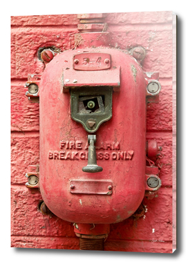 Old Red Fire Alarm