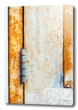 Rusty Door Hinge Abstract
