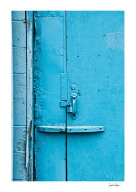 Street Abstract of a Blue Door