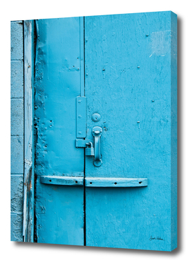 Street Abstract of a Blue Door