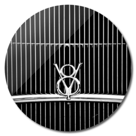 Classic Car Grill in Black and White