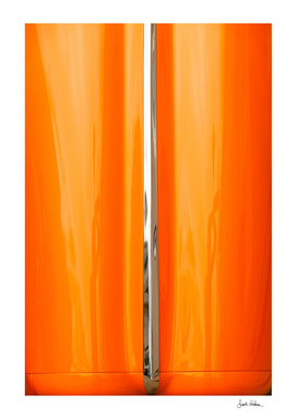 Orange Car Hood