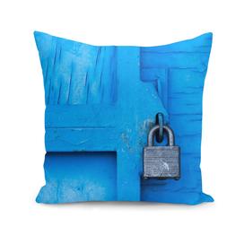 Lock on a Blue Door