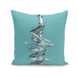 Graphic Art SIGNPOST | turquoise