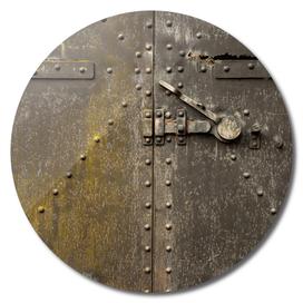 Rivet Pattern on a Giant Metal Door