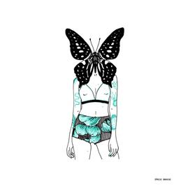 Femme Papillon 01