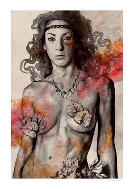 Colony Collapse Disorder (topless warrior girl, nude breast)