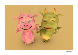 Cute Baby Dragons