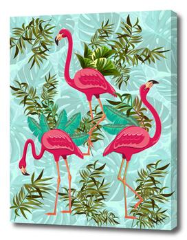 Pink Flamingos Exotic Birds
