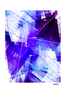 Indigo Chaos - Geometric Abstract Art