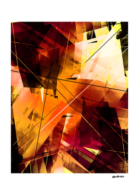 Shards of Sun - Geometric Abstract Art