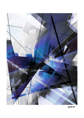 Divided by Glass - Geometric Abstract Art