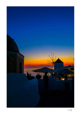 santorini sunset s