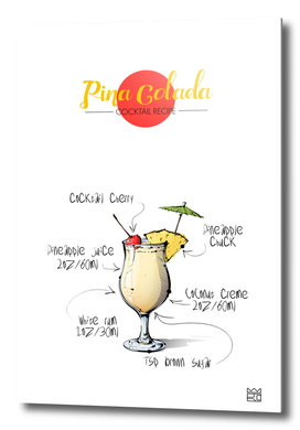 Pina Colada cocktail recipe
