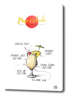 Pina Colada cocktail recipe