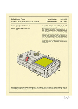 Video Game Patent - 1993