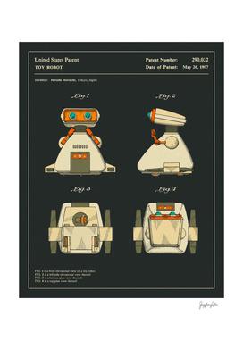 Toy Robot Patent (1987) (Black)