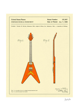 Guitar Patent - 1958