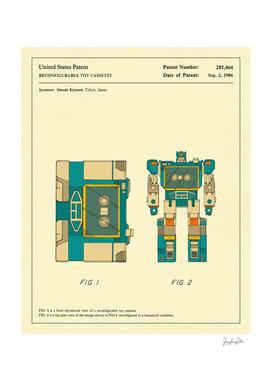 Reconfigurable Toy Patent - 1986