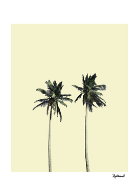 Twin palms (soft beige)