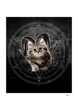 ALL OVER Cat Kitty Black Dark Satanic Satan 666 Hell
