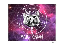 Hail Satan Cat Catan Kitty pentagram