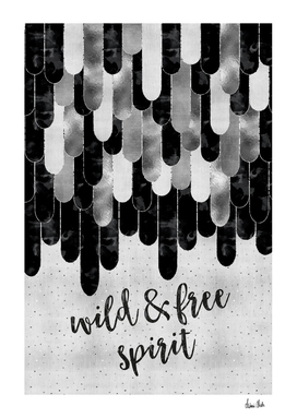 Graphic Art Feathers WILD & FREE SPIRIT | silver