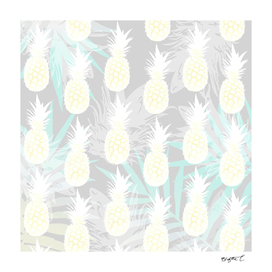 Elegant Pineapple Tropical Beach Pattern