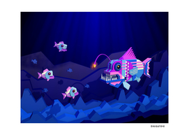 Anglerfish, lie and bioluminescence