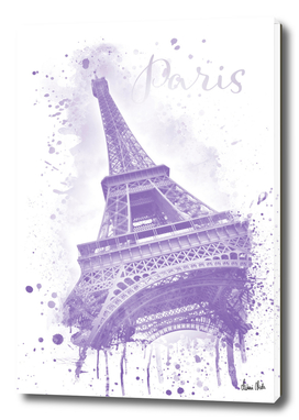 Watercolor Eiffel Tower | purple