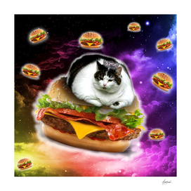 hamburger cat king spece cosmos pornfood food fast