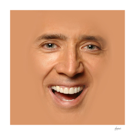 Nicolas Cage Face Trolling Full Print big hug