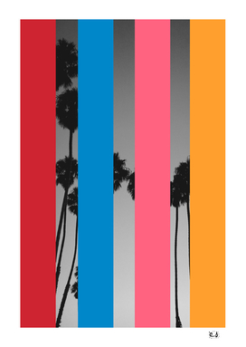 Pop Art Graphic Design Palm Trees