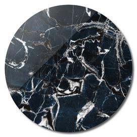 dark marble blue & black